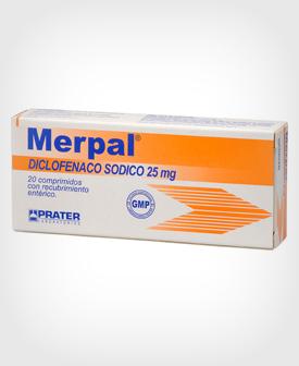 Merpal (Diclofenaco) 25 mg x 20 Comprimidos