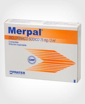 Merpal (Diclofenaco) Inyectable 75 mg3 amp.