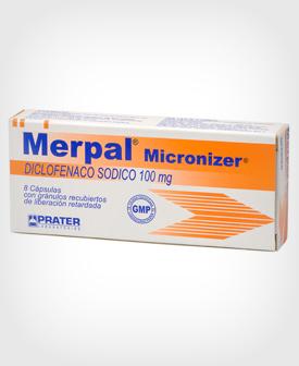 Merpal (Diclofenaco) Micronizer 100 mg x 8 Cápsulas